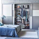 шкаф купе в спальне внутри