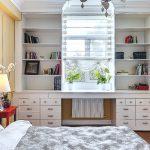 Шкаф вокруг окна-современная мебель