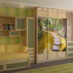 Шкафы-купе в детскую фото