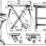 Складной стул из парусины