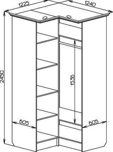 Угловой шкаф своими руками