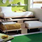 Выдвижной вариант три кровати