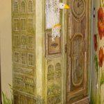 декорировать шкаф росписью