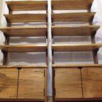 деревянная этажерка в рустикальном стиле