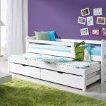 детская выдвижная кровать белая