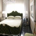 дизайн маленькой спальни кровать
