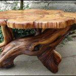 дизайнерский стол из натурального дерева