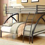 двухъярусная кровать серого цвета