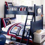двухъярусная кровать темно синяя