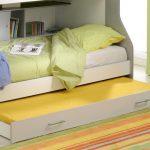двухъярусная выдвижная кровать с матрасами