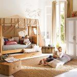 двухъярусная выдвижная кровать в детской