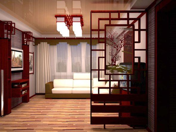 гостиная в японском стиле