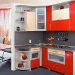 интересный дизайн для маленькой кухни