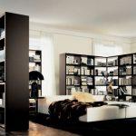 книжный шкаф для перегородки комнаты