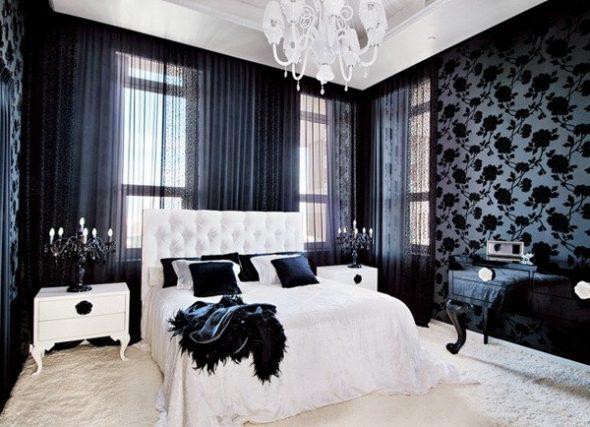 красивые обои в спальне