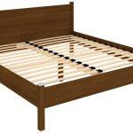 кровать с ортопедическим основанием в спальне