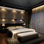 темные оттенки спальни