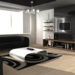 минимализм в интерьере зала