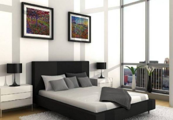 картины в спальне минимализм