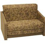 мягкое кресло-кровать коричневого цвета