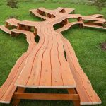 оригинальный стол из спила дерева