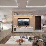 расстановка мебели в квартире студии