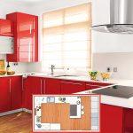 расставить мебель в кухне