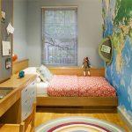 расставить мебель в маленькой детской комнате