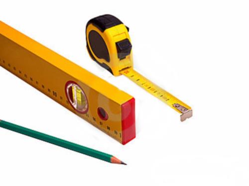 рулетка уровень карандаш
