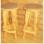 сделать барный стул своими руками из дерева