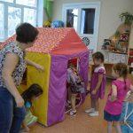 ширма домик в детском саду