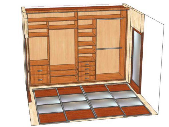 проект шкафа купе