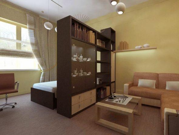 шкаф перегородка для гостиной и спальни