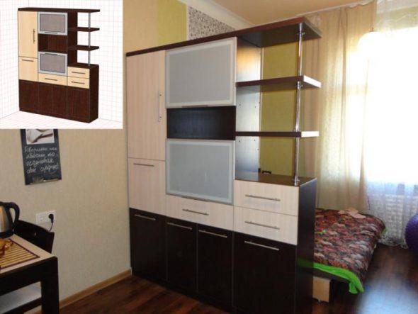 шкаф перегородка односторонний