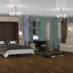 современная мебель трансформер для большой комнаты