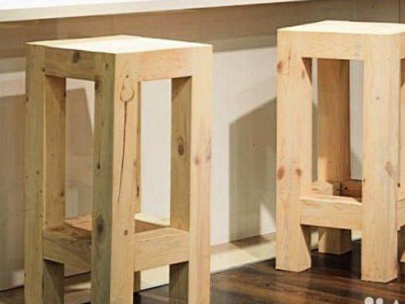 стул барный из дерева своими руками