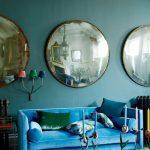 зеркала в интерьере круглой формы