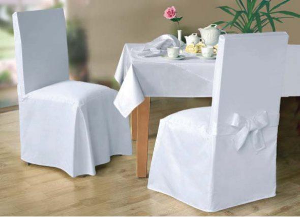 Чехлы на стулья белые