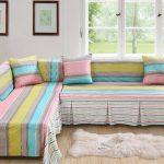 Чехол красивый на угловой диван