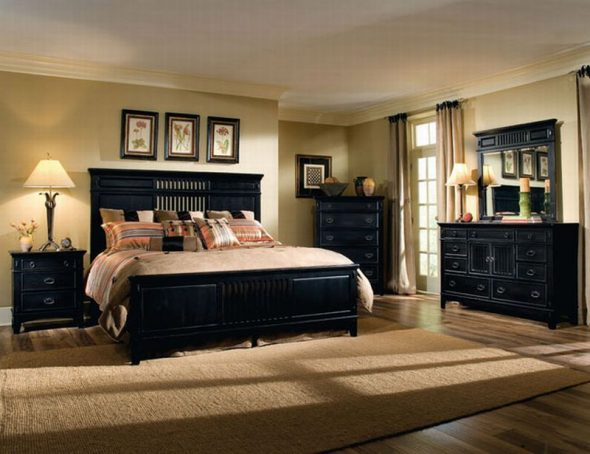 Чёрная мебель очень стильно