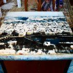 Декупаж старого кухонного лакированного стола