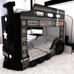 Детская двухъярусная кровать Автобус фото