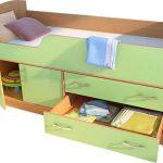 Детская кровать-трансформер фисташкового цвета