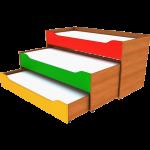 Детская кровать-трансформер с ящиками