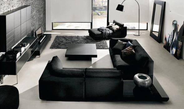 Дизайн черной спальни