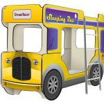 Двухъярусная кровать Автобус комбинированного цвета