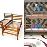 Двухъярусная кровать для взрослых в интерьере комнаты