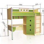 Кровать чердак Полосатый рейс-2