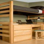 Кровать-чердак для взрослых в дизайне