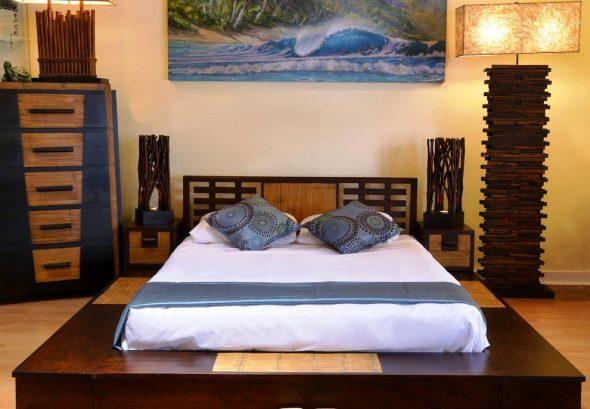 кровать деревянная восточный стиль